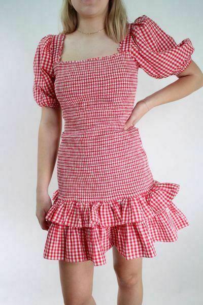 Bilde av TiMo Checks Mini Smocking Dress
